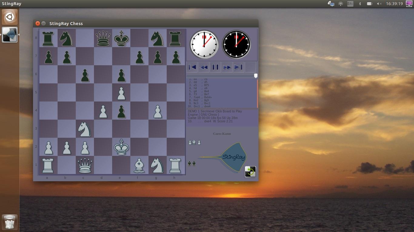 ScreenShots - StingRay Chess GUI